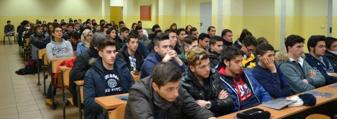 Gli studenti presenti all'incontro