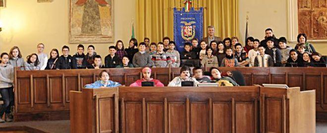 Gli studenti in visita