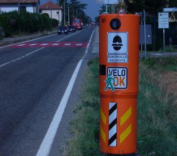 Uno dei 9 velo ok installati a Rivalta Scrivia