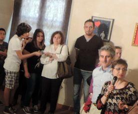Un momento dell'inaugurazione della mostra a Palazzo Guidobono