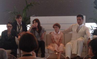 Un momento della conferenza stampa di presentazione del film