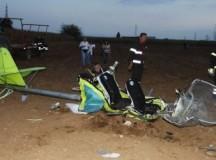 Le immagini del disastro aereo in cui hanno perso la vita Rino Campanella e Paolo Coltelli