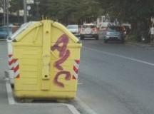 A Tortona in via Emilia nord, raid dei vandali verniciatori