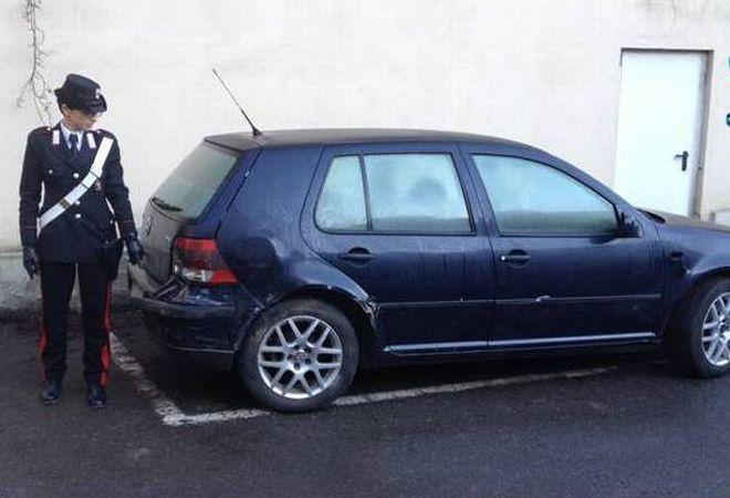 L'auto sequestrata