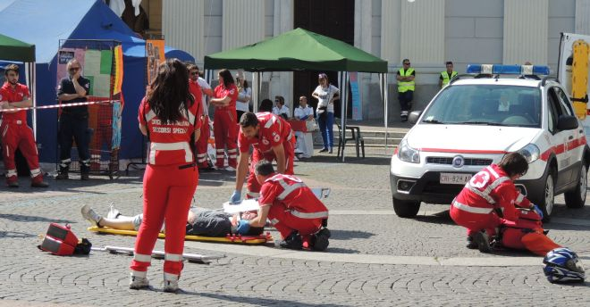 Domenica a Voghera tutti in piazza con la Croce Rossa locale