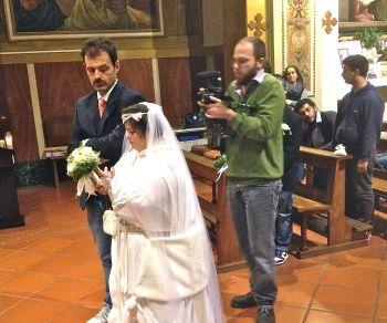 I disabili tortonesi girano un cortometraggio nella chiesa di San Michele