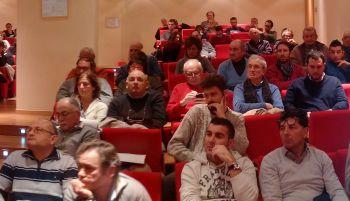 Gli agricoltori di Tortona, Novi e Castelnuovo in riunione alla sala della Fondazione