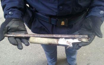 L'arma sequestrata con la quale l'uomo voleva suicidarsi