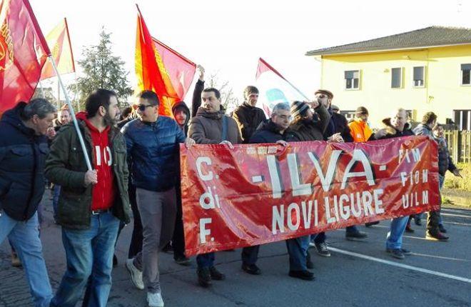 Le immagini dello sciopero all'Ilva di Novi Ligure
