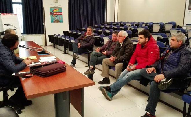 I delegati sindacali del Gruppo Gavio si riuniscono per parlare dei problemi occupazionali