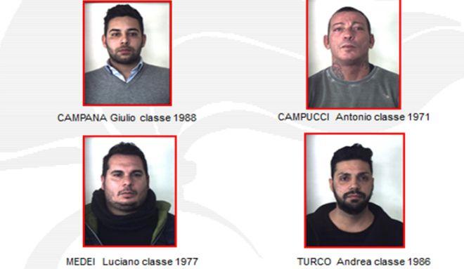 I carabinieri arrestano 4 calabresi per estorsioni e usura ad Alessandria a Casale