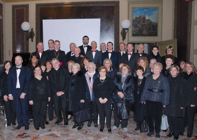 Il coro dell' Accademia Perosi di Daniela Menditto si é esibito per il gemellaggio coi polacchi