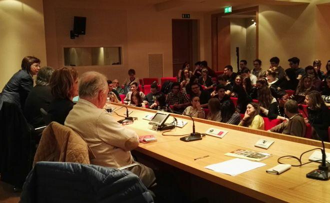 """Marconi e Carbone alla conferenza """" Società inclusiva"""" presso la sala della Fondazione C.R.T."""