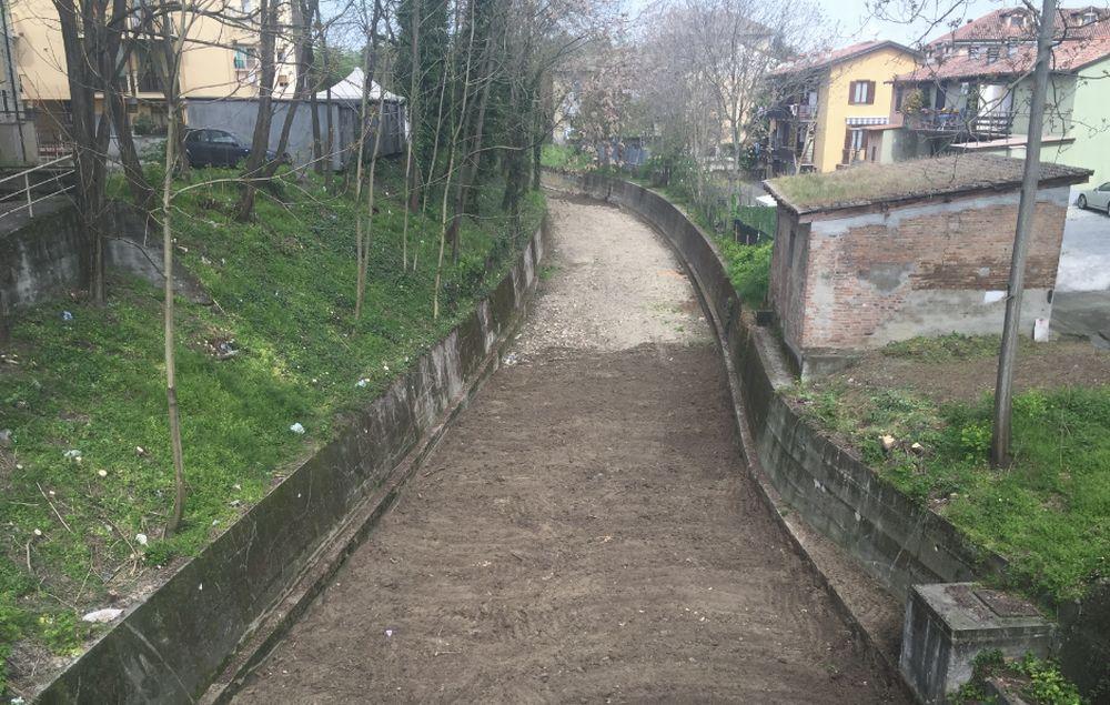 Tortona, conclusi i lavori di pulizia e messa in sicurezza del torrente Ossona