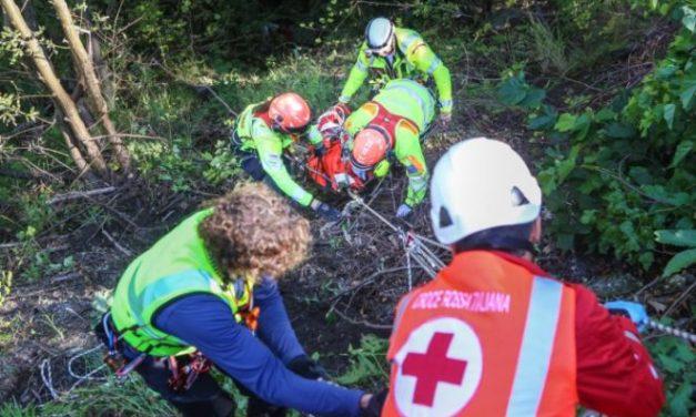 Donna cade durante unì'escursione in val Borbera, soccorsa dal 118
