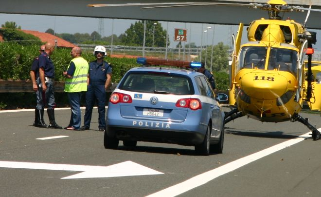 Tamponamento sull'A/7 a Castelnuovo Scrivia, chiusa l'autostrada, due donne trasportate con l'elisoccorso ad Alessandria