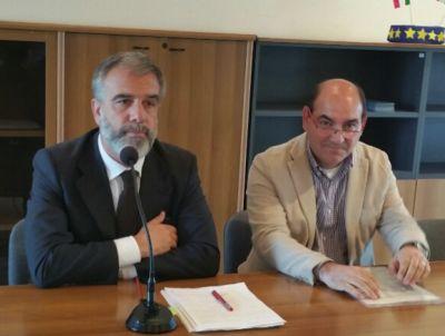 Il sidaco Gianluca Bardone e il presidente della Commissione sanità Antonello Santoro