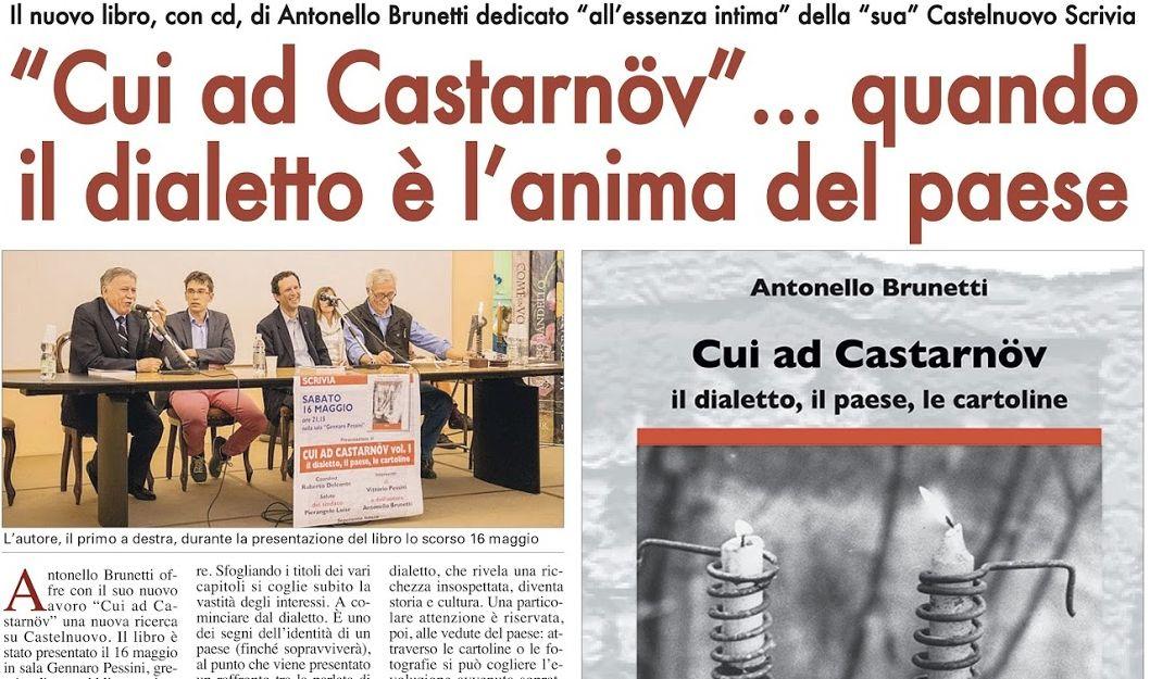 """Antonello Brunetti presenta il secondo volume di """"Cui ad Castarnöv"""" piccola enciclopedia del dialetto"""