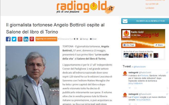 Un grazie a Radiogold, Alessandriamagazine e diAlessandria per la visibilità al Salone del libro
