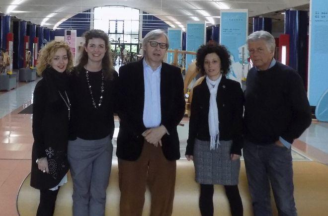Vittorio Sgarbi al museo dei Campionissimi