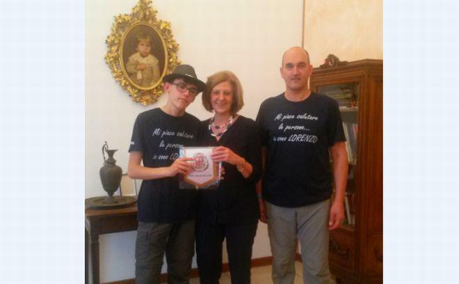Tortona ha accolto l'Ambasciatore del Saluto Lorenzo Cardone