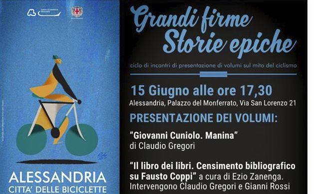 Ad Alessandria presentato il libro sul ciclista tortonese Giovanni Cuniolo Manina