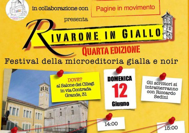Domenica c'é Rivarone in Giallo, festival della microeditoria gialla e noir