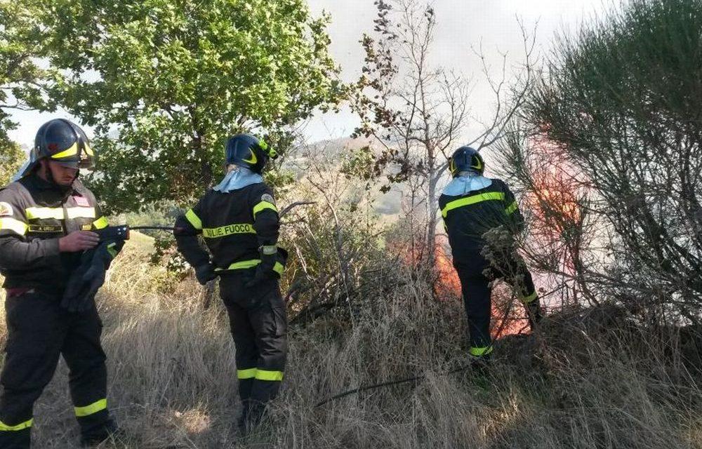 Lunedì di fuoco in provincia: 20 incendi di cui 5 nel Tortonese