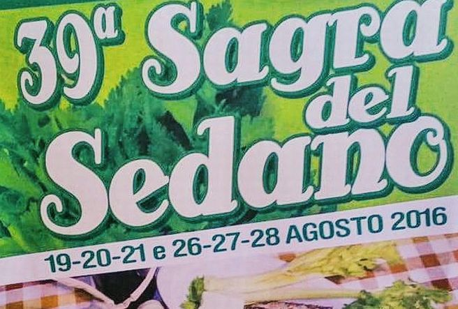 Al via venerdì 19 agosto la 39° edizione della Sagra del Sedano di Alluvioni Cambió.