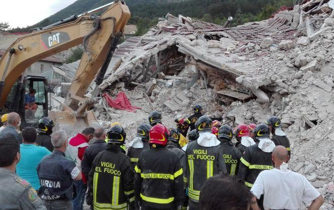 I Vigili del Fuoco di Alessandria nelle zone del terremoto