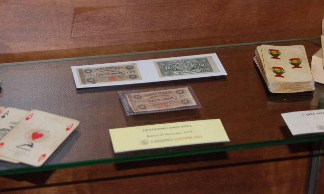 Anche la banconota  da cinquanta centesimi datata 1873  Banca di Sanremo  in mostra al Casinò