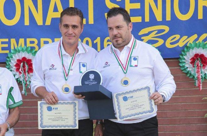 Due castelnovesi Campioni italiani di bocce a Brescia. Le immagini di un successo