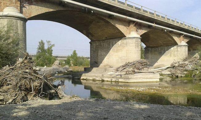 Il ponte sullo Scrivia prima dell'esercitazione