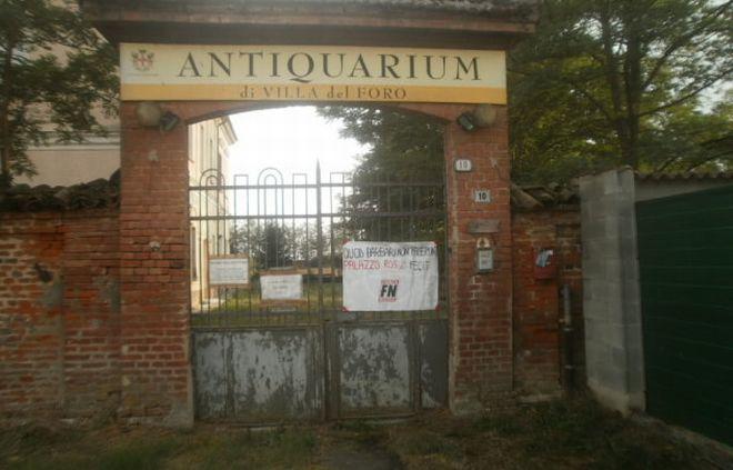 Alessandria, Forza Nuova sollecita la ristrutturazione di Villa del Foro
