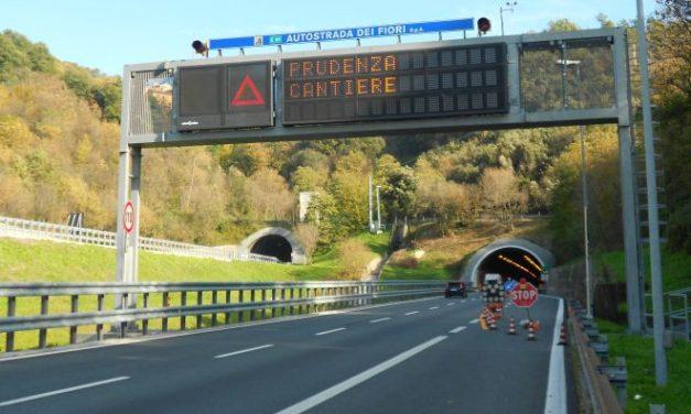 I cantieri sull'autostrada dei fiori la prossima settimana