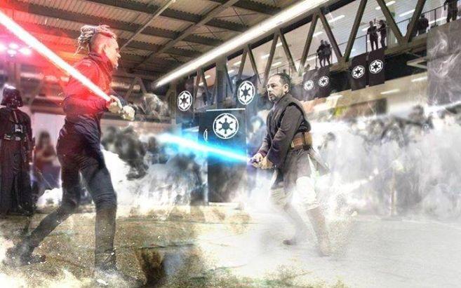 Ad Alessandria due spettacoli di jedi generation, show coreografico di combattimento con spada laser