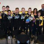 Tortona, i ragazzi della Leoni pallamano, campioni nazionali, ricevuti da Bardone e Colacino