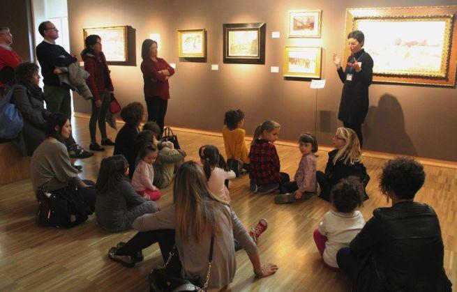 """Anche le famiglie e i bambini visitano """"Il Divisionismo"""" la Pinacoteca della Fondazione di Tortona"""