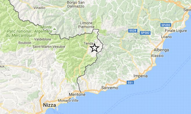 Altra scossa di terremoto alle 19,32 di Domenica nella provincia di Imperia, avvertita dagli strumenti. La quinta in 24 ore
