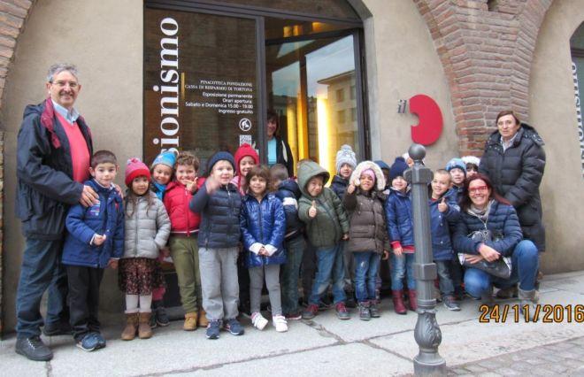 L'associazione Culturale Viguzzolese  porta i bambini della Scuola dell'infanzia in Pinacoteca