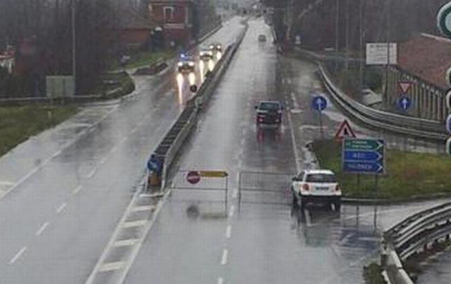 Alessandria ha chiuso il ponte sul fiume Bormida per diverse ore