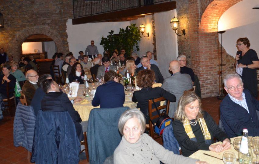 L'Associazione Pellizza a cena con tanti ospiti illustri