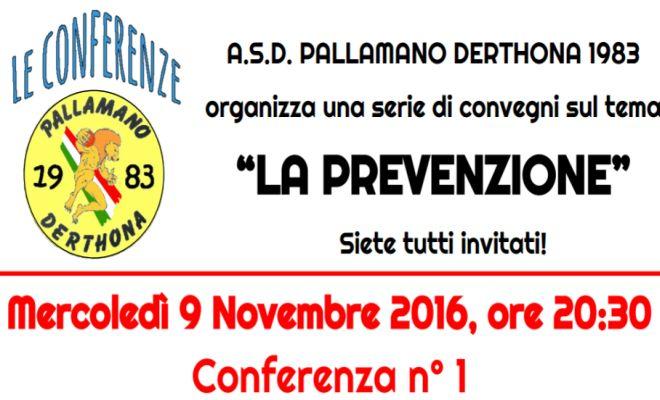 Un convegno della Derthona pallamano per parlare di prevenzione