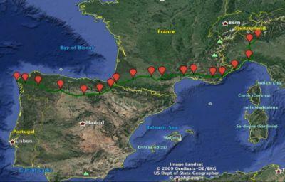 L'itinerario del viaggio