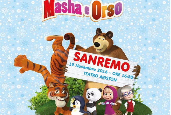 """Al teatro Ariston di Sanremo sabato va in scena lo spettacolo """"Masha e Orso"""""""