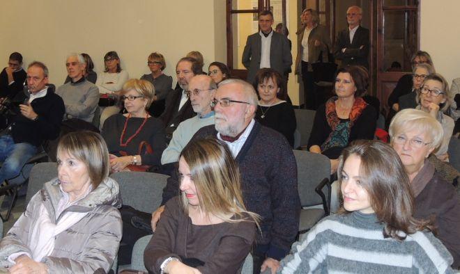 Il pubblico presente all'inaugurazione