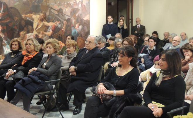 Biblioteca di Tortona strapiena per vedere il quadro di Barabino donato al Comune dal nipote