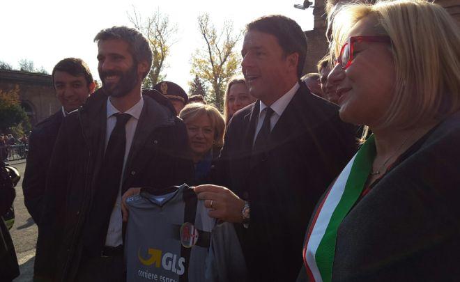 Renzi con la maglia dell'Alessandria