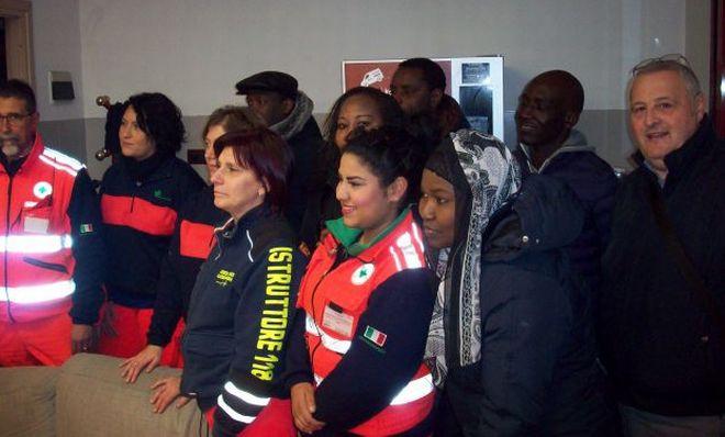 La Comunità senegalese in visita alla Croce Verde di Alessandria