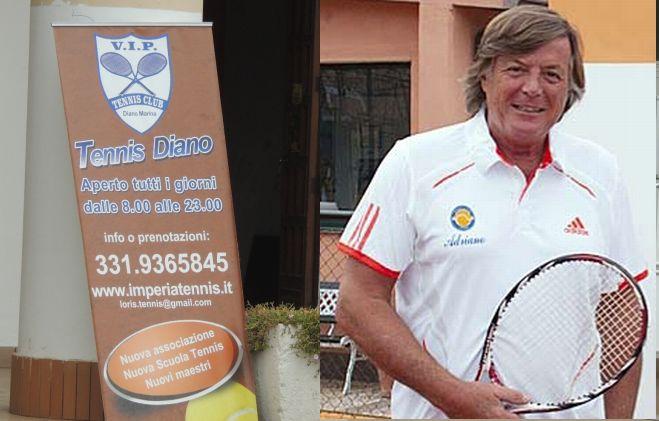 Iniziati a Diano Marina i lavori per l'impianto elettrico del tennis che ospiterà Adriano Panatta